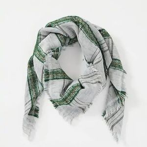 J. Jill Balsam Fringed Scarf with Grays & Greens